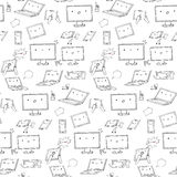 Kawaii gadgets seamless pattern Stock Images