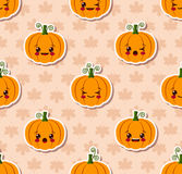 Kawaii Halloween seamless pattern Royalty Free Stock Image