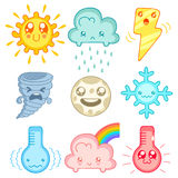 Kawaii icons Royalty Free Stock Images