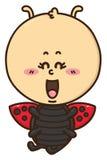 Kawaii ladybug Stock Image