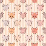 Kawaii mouse plush seamless vector pattern royalty free illustration