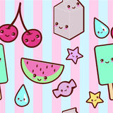 Kawaii pattern Royalty Free Stock Photography
