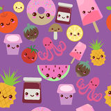 Kawaii pattern Stock Photography