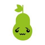 Kawaii pear cartoon Royalty Free Stock Photos