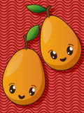 Kawaii pear icons Stock Images