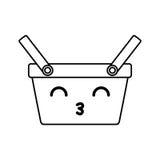 Kawaii picnic basket Stock Photos
