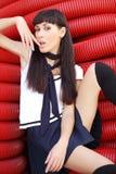 Kawaii projektował młodej kobiety Zdjęcie Stock