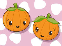 Kawaii pumpkin icons Stock Photo