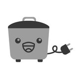 Kawaii rice cooker cartoon Royalty Free Stock Photography