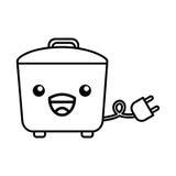 Kawaii rice cooker cartoon Royalty Free Stock Images
