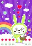 Kawaii roxo Imagem de Stock