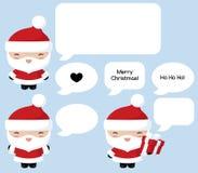 Kawaii Santa Says Royalty Free Stock Image