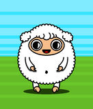 Kawaii sheep character Stock Image