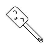 Kawaii silicone spatula cartoon Stock Photography