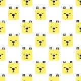 Kawaii Squares Animals Seamless pattern. Vector Hand Draw Background with the faces of Dogs vector illustration