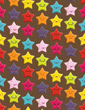 Kawaii Stars Seamless Background Stock Photos