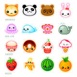 Kawaii stickers Royalty Free Stock Photo