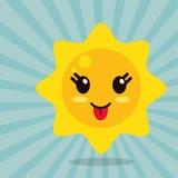 Kawaii sun out tongue. Illustration eps 10 Royalty Free Stock Image