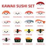 Kawaii sushi icon set. Vector. Eps10 Stock Photography