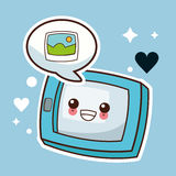 kawaii tablet picture image Royalty Free Stock Images