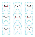 Kawaii teeth set Royalty Free Stock Photo