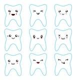 Kawaii teeth set Royalty Free Stock Photo