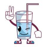 Kawaii trevligt sötvattenexponeringsglas stock illustrationer