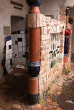 Kawakawa Nueva Zelanda del retrete público de Hundertwasser Fotos de archivo libres de regalías