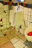 Kawakawa Nuova Zelanda della toilette pubblica di Hundertwasser Fotografia Stock