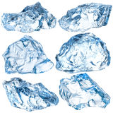 Kawałki odizolowywający na bielu lód Z ścinek ścieżką Obraz Stock