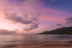 Kawalera Vallon plaży półmrok zdjęcie stock