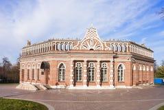 """Kawaleria budynku â """"– 2, w stanie, sztuce i krajobraz rezerwie Tsaritsyno dziejowym, architektonicznym, W Moskwa Fotografia Stock"""