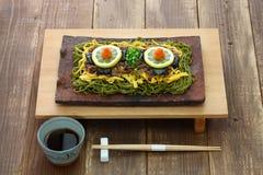 Kawara soba, japoński lokalny jedzenie fotografia stock