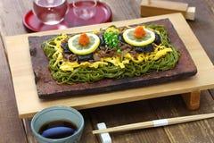 Kawara soba, japoński lokalny jedzenie zdjęcie stock