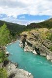 Река Kawarau и лес Новая Зеландия стоковые фотографии rf