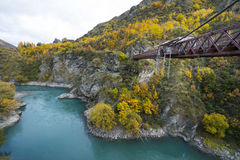 Kawarau Bridge near Queenstown, Bungy Jumping Stock Photo
