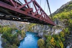 Kawarau bro, Nya Zeeland Arkivbild