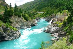 Kawarau river and forest Stock Image