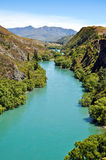 Kawarau river near Queenstown Royalty Free Stock Photography