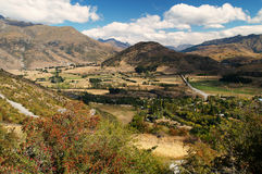 Kawarau river valley Stock Image