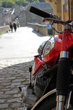 Kawasaki 350 in Dinan France Royalty Free Stock Photo