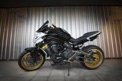 Kawasaki Er 6n con fotografia di Lightpainting Immagine Stock