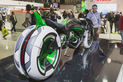 Kawasaki futuristic prototype at EICMA 2014 in Milan, Italy Stock Photography