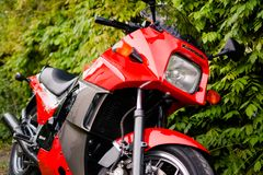 Kawasaki GPZ 900 motorcycle from Top Gun movie photographed outdoor in the park Stock Photo