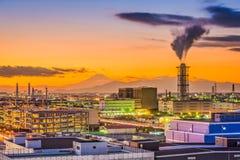 Kawasaki, Japan Factories. And Mt. Fuji Stock Image