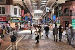 Kawasaki, Japan. MAY 10, 2012: People shop at covered city shopping streets of . Kawasaki city is inhabited by 1.44 million people Royalty Free Stock Photo