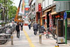 Kawasaki, Japan. MAY 10, 2012: People walk in . Kawasaki city is inhabited by 1.44 million people Stock Photography