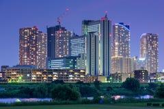 Kawasaki Japan Skyline. Kawasaki, Japan skyline at the Tamagawa River Royalty Free Stock Image