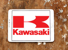 Kawasaki motorcycle logo Royalty Free Stock Photos