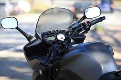 Kawasaki Motorcycle Stuur, controlebord en brandstoftank Stock Afbeelding